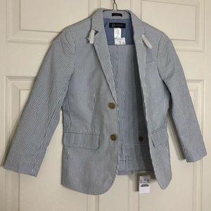 Boy's Blue Striped Suit